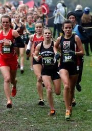Fairfield Union's Mackenzie Davis runs in the Regional Cross Country meet Saturday, Oct. 27, 2018, at Pickerington North High School in Pickerington.