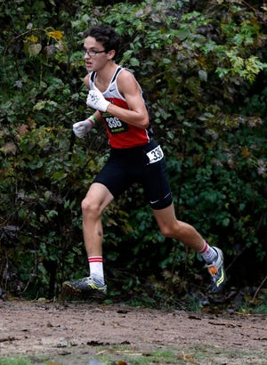 Sheridan's William Wilke runs in the Division II regional cross country meet last month. Wilke is aiming to place in the top 25 for an All-Ohio finish and hoping to compete for a state title.