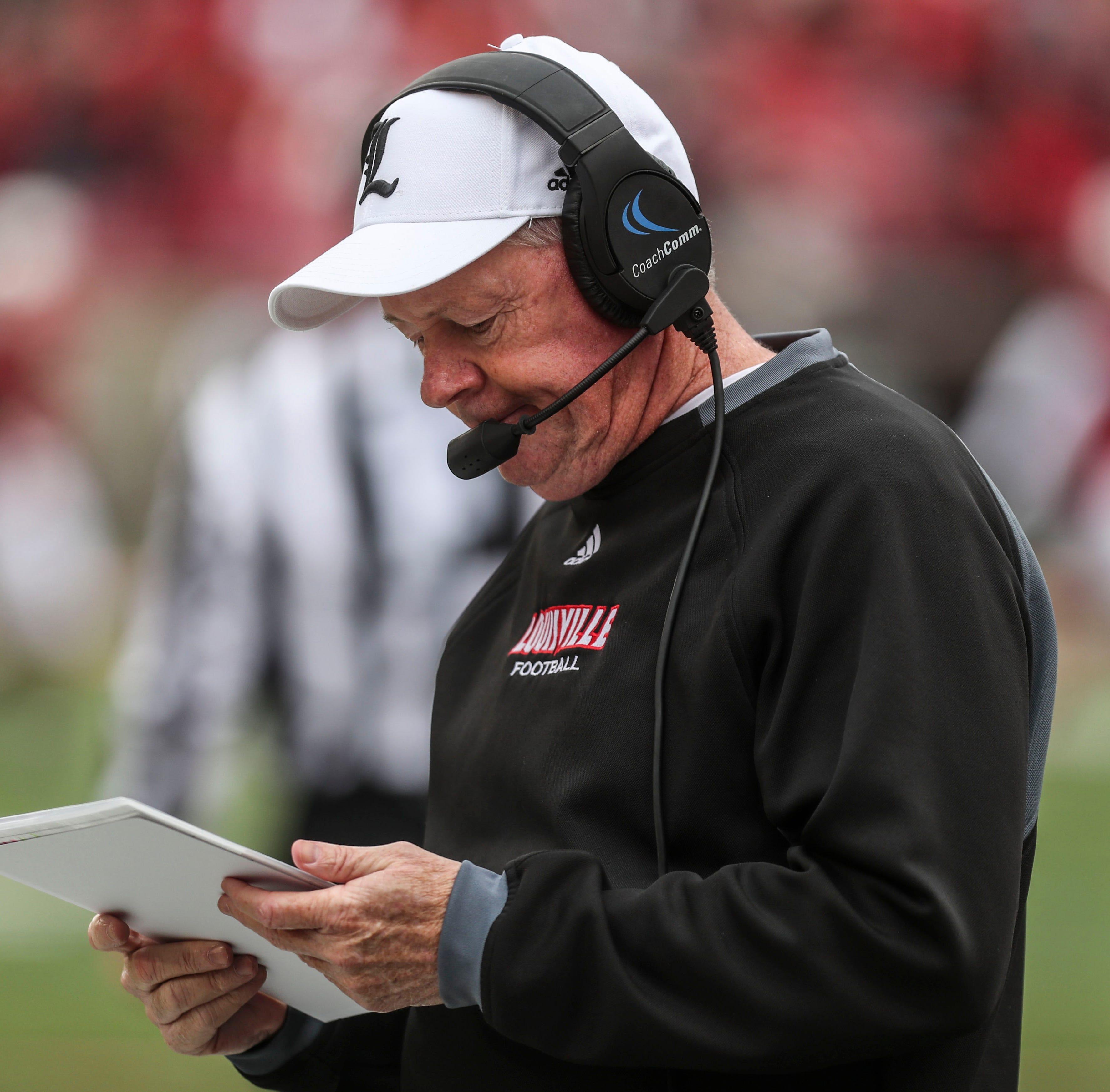 Amid a miserable season, Louisville football fires coach Bobby Petrino