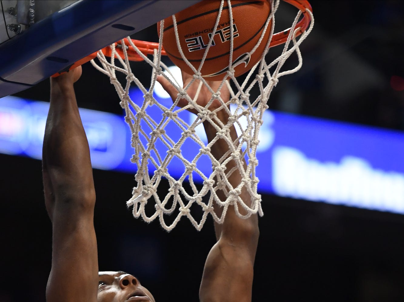 Ashton Hagans dunks during the University of Kentucky basketball game against Transylvania at Rupp Arena in Lexington on Friday, Oct. 26, 2018.