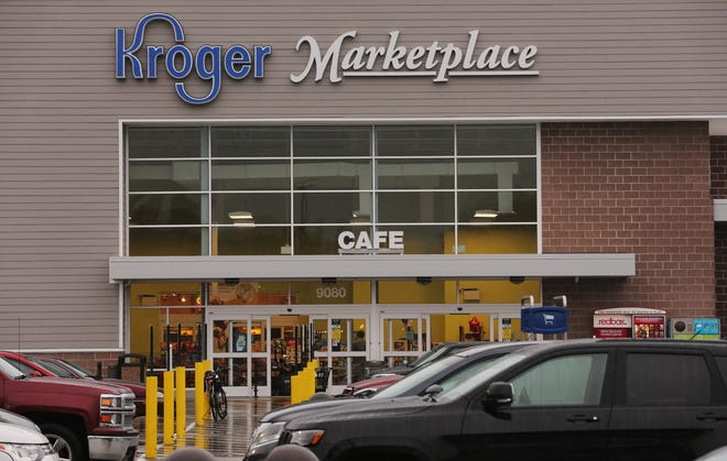 Two people were killed at a Kroger supermarket in the Louisville, Ky., suburb of Jeffersontown on Oct. 24, 2018. Some wonder why authorities have yet to determine whether the killing of two African-Americans by a white man is a hate crime.