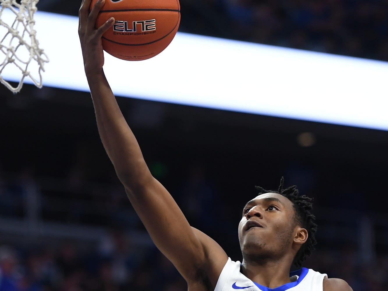 Immanuel Quickley lays up the ball during the University of Kentucky basketball game against Transylvania at Rupp Arena in Lexington on Friday, Oct. 26, 2018.