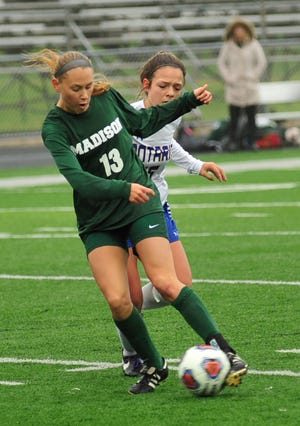 Madison's Taylor Huff, a two-time All-American, is the top returning player in high school girls soccer in the Mansfield News Journal area.