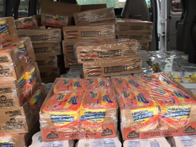 This large commercial van was filled with food items from Kroger's after members of the local Owls Nest donated $1,000 to the Make A Difference Day food drive last year for six area food pantries.