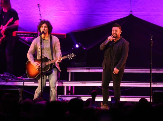 Dan + Shay open for Chris Young at Fiserv Forum Oct. 26, 2018.