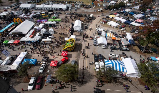 Tailgating and fan zone at Legion Field in Birmingham, Ala., before the Magic City Classic on Saturday October 27, 2018.