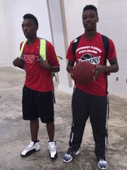 Rod Scott and Henry Ruggs III heading off to work on their basketball skills while in high school in Montgomery.