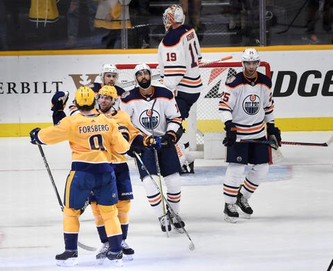 0c5f05dacdb Predators vs Oilers  Filip Forsberg hat trick not enough for Nashville