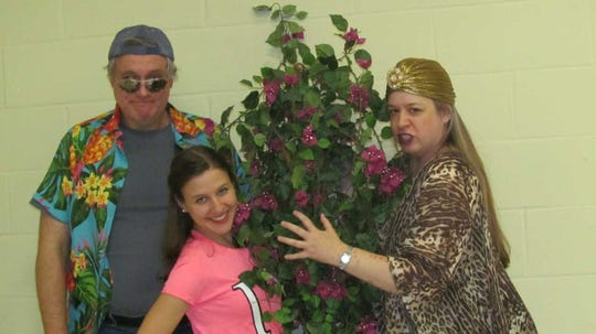 """""""The Island Mikado"""": John Holmboe of Pearl River, Angela Scorese of Jersey City, Eileen Mager of Haworth."""