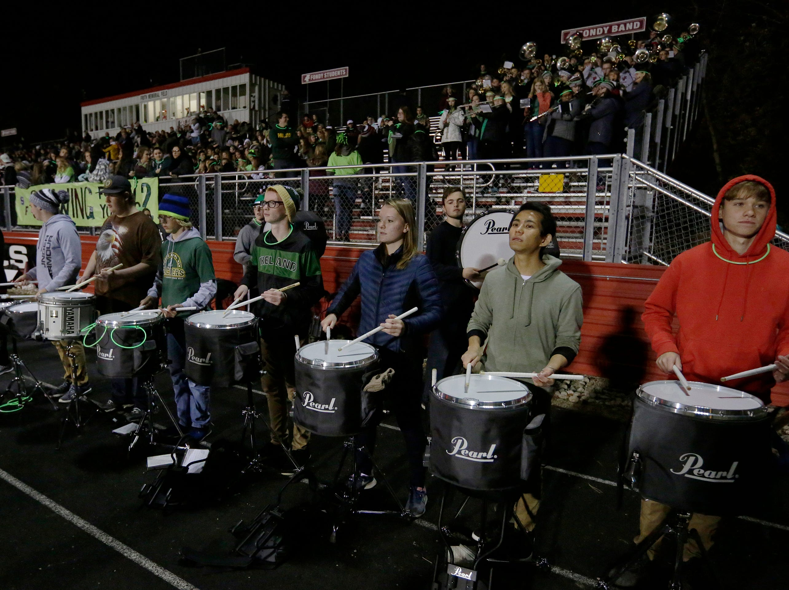 The Fond du Lac band played pregame and at the half during the game.  Fond du Lac Cardinals played Arrowhead Warhawks in WIAA football playoff sectionals, Friday, Oct. 26, 2018, at Fruth Field in Fond du Lac.Joe Sienkiewicz/USA Today NETWORK-Wisconsin