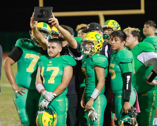 The Coachella Valley varsity football team won Friday's home conference game against Banning (CA) by a score of 73-56
