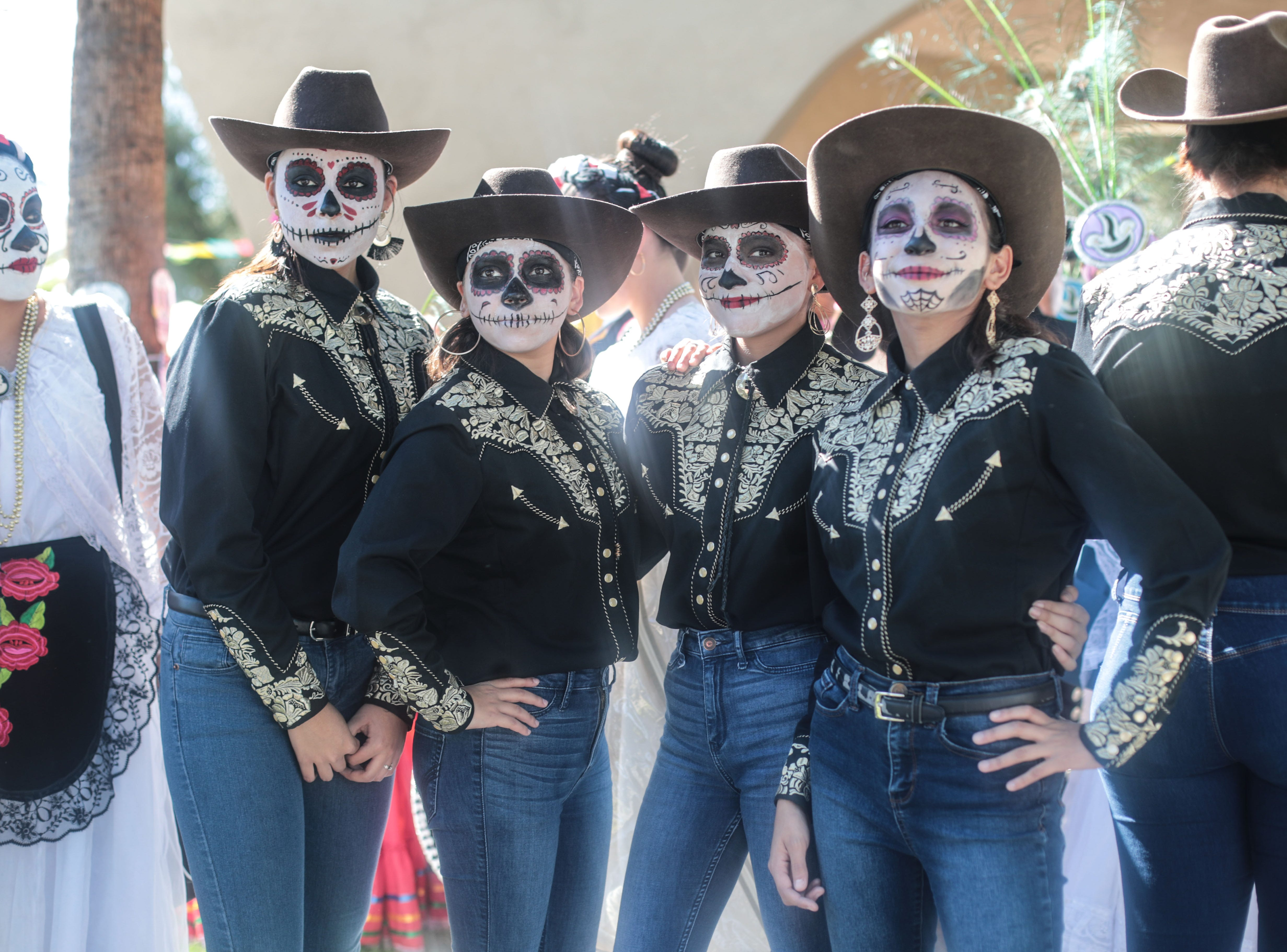 Folklorico dancers from Cathedral City High School at Cathedral City's annual Dia de los Muertos celebration at Desert Memorial Park cemetery on Saturday, October 27, 2018.
