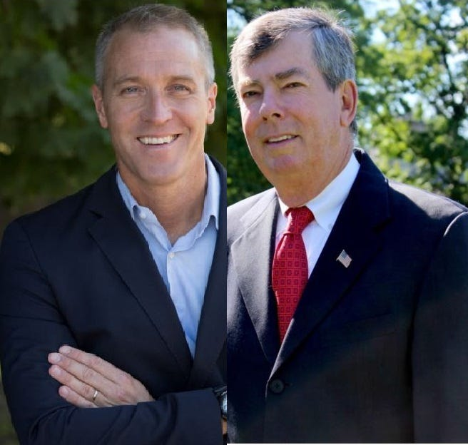 From left, Sean Patrick Maloney and James O'Donnell.