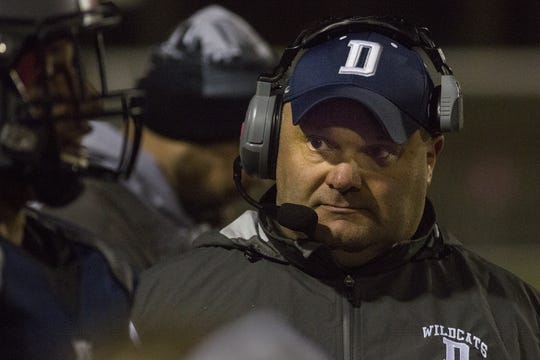 Dallastown head coach Ron Miller. Red Lion defeats Dallastown 17-10 in football at Dallastown Area High School in Dallastown, Friday, October 26, 2018.
