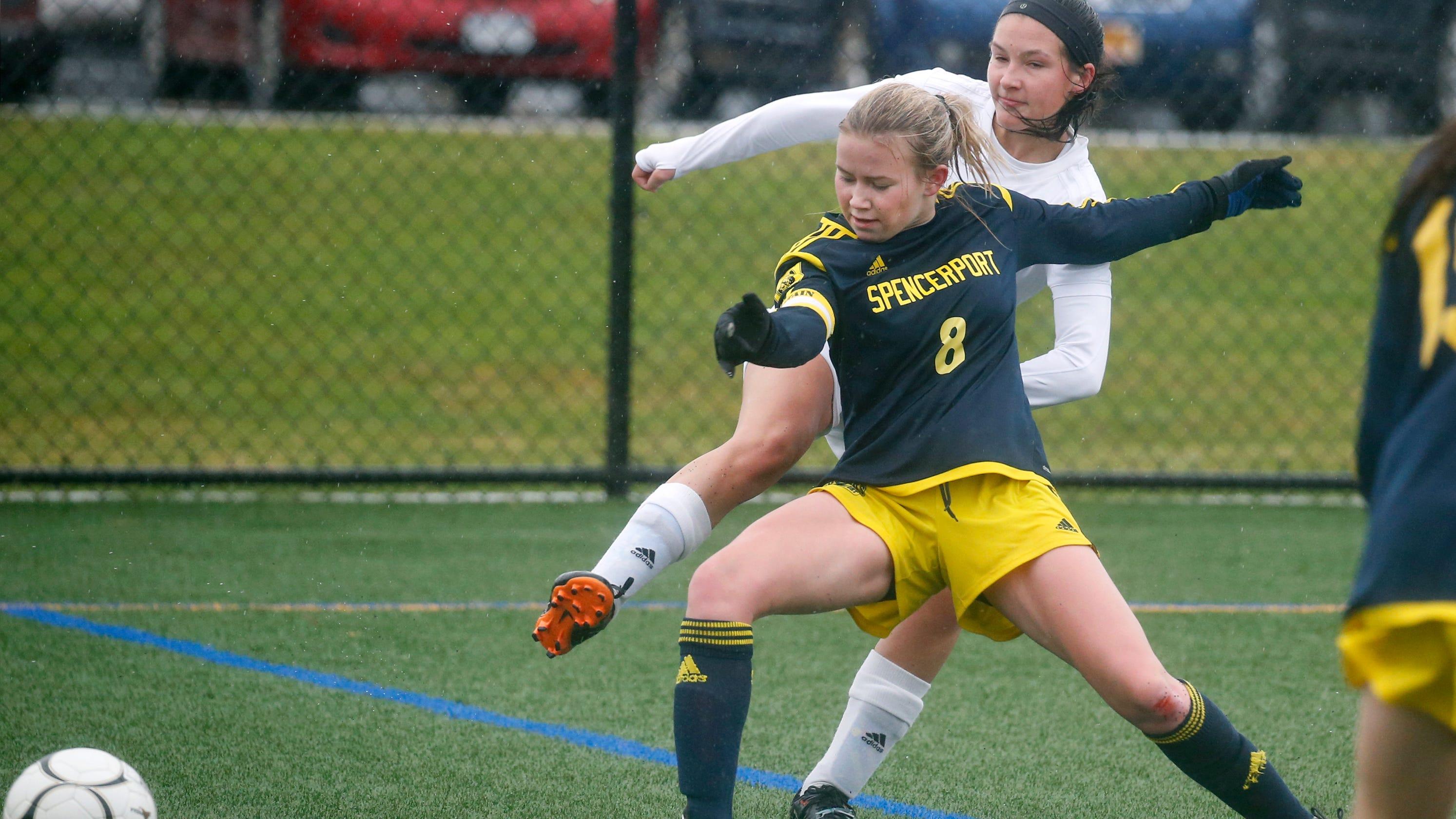 ee54304b729f State girls soccer quarterfinals  Spencerport rolls over Amherst