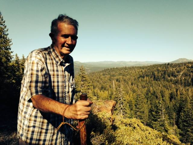 Scott Carter hiking in the Sierras near his home in Graeagle about three years ago.