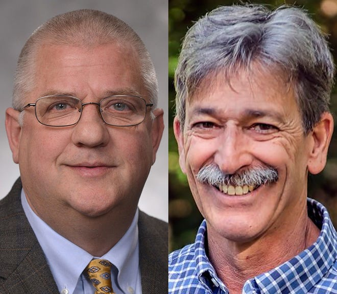 From left, incumbent Mike Nearman and challenger Danny Jaffer.