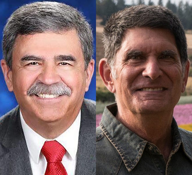From left, incumbent Rick Lewis and challenger Barry Shapiro.
