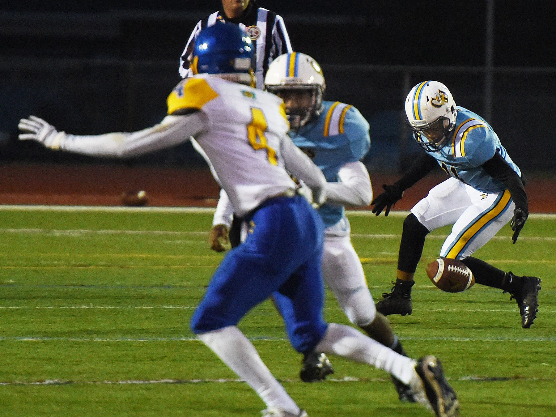 Action from the Cape Henlopen v. Sussex Central game Oct. 26, 2018.