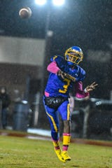 Wicomico High quarterback Khalil Evans (3) throws the ball in the game against Easton High at the Wicomico County Stadium on Friday, Oct 26, 2018.