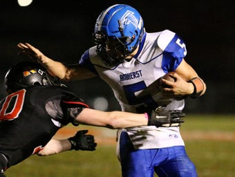 Josh Rieck gained over 200 yards of total offense and five total touchdowns to lead Amherst to a 37-19 victory over Cedar Grove-Belgium.
