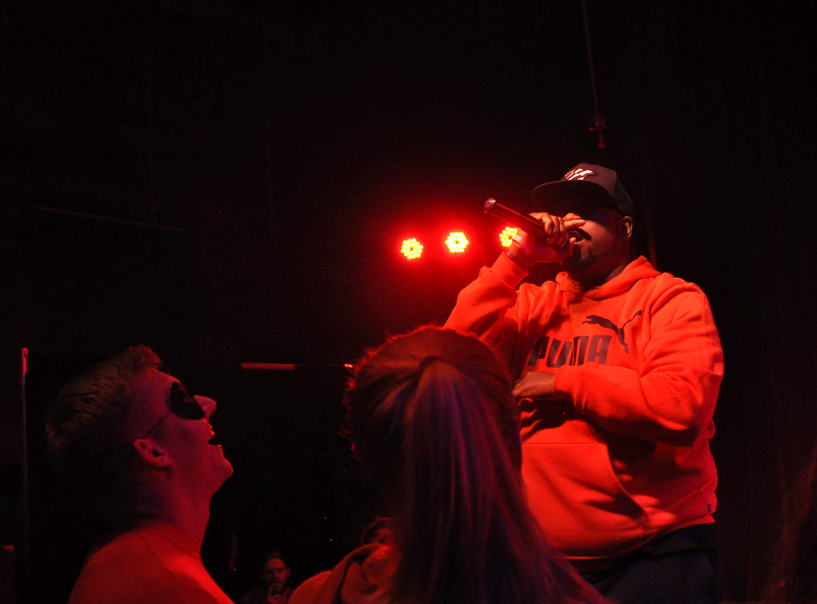 Vaney Hariri performs during the 10th Annual Halloween Rap Karaoke show at Icon Lounge Friday night. The event is was created by the Sioux Falls band Soulcrate.