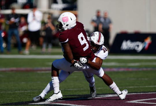 The Missouri State Bears take on the Southern Illinois Salukis at Plaster Field on Saturday, Oct. 27, 2018.
