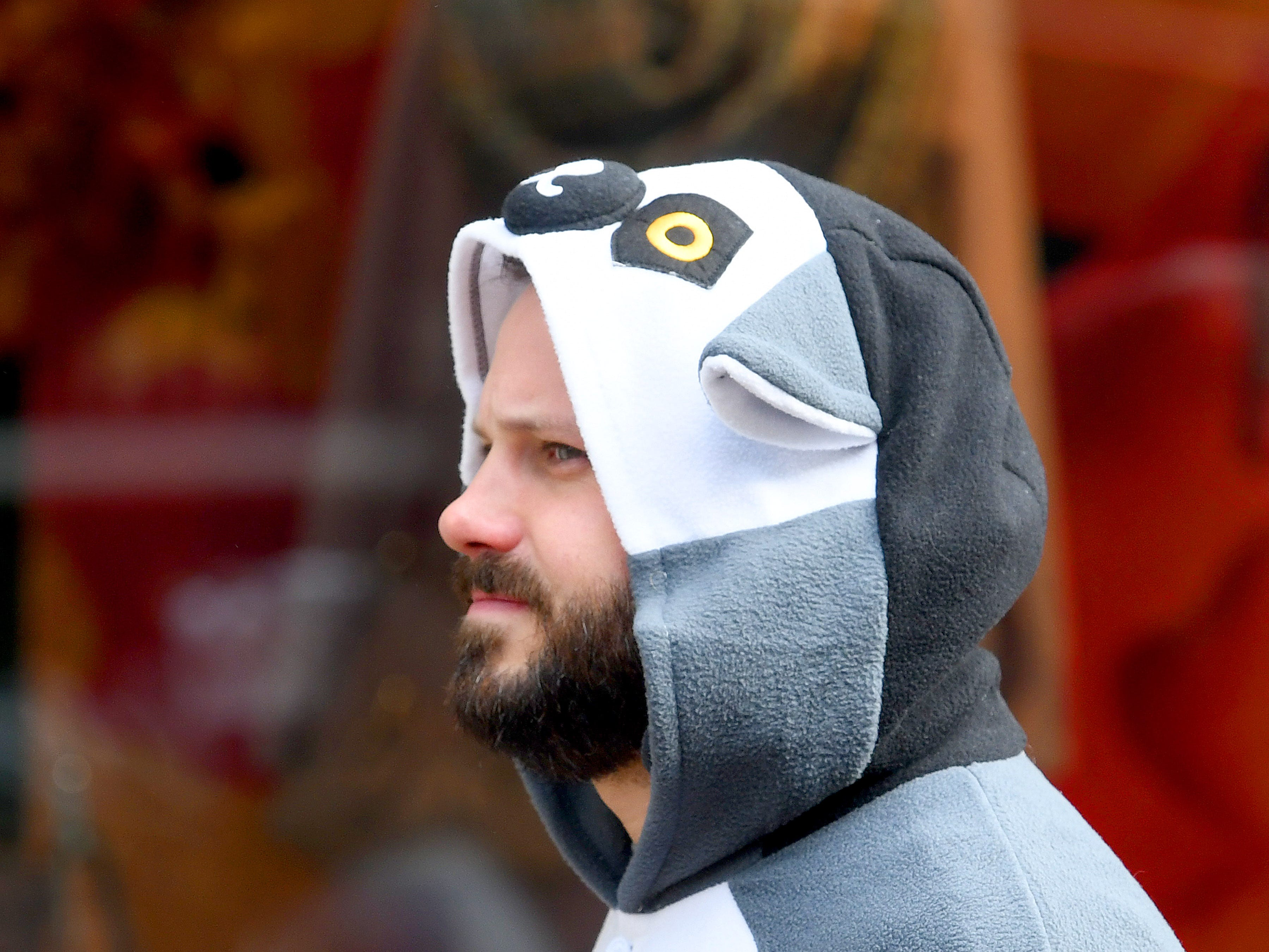 Kids aren't the only ones dressed in costumes during the annual downtown trick-or-treating event in Staunton on Saturday, Oct. 27, 2018.