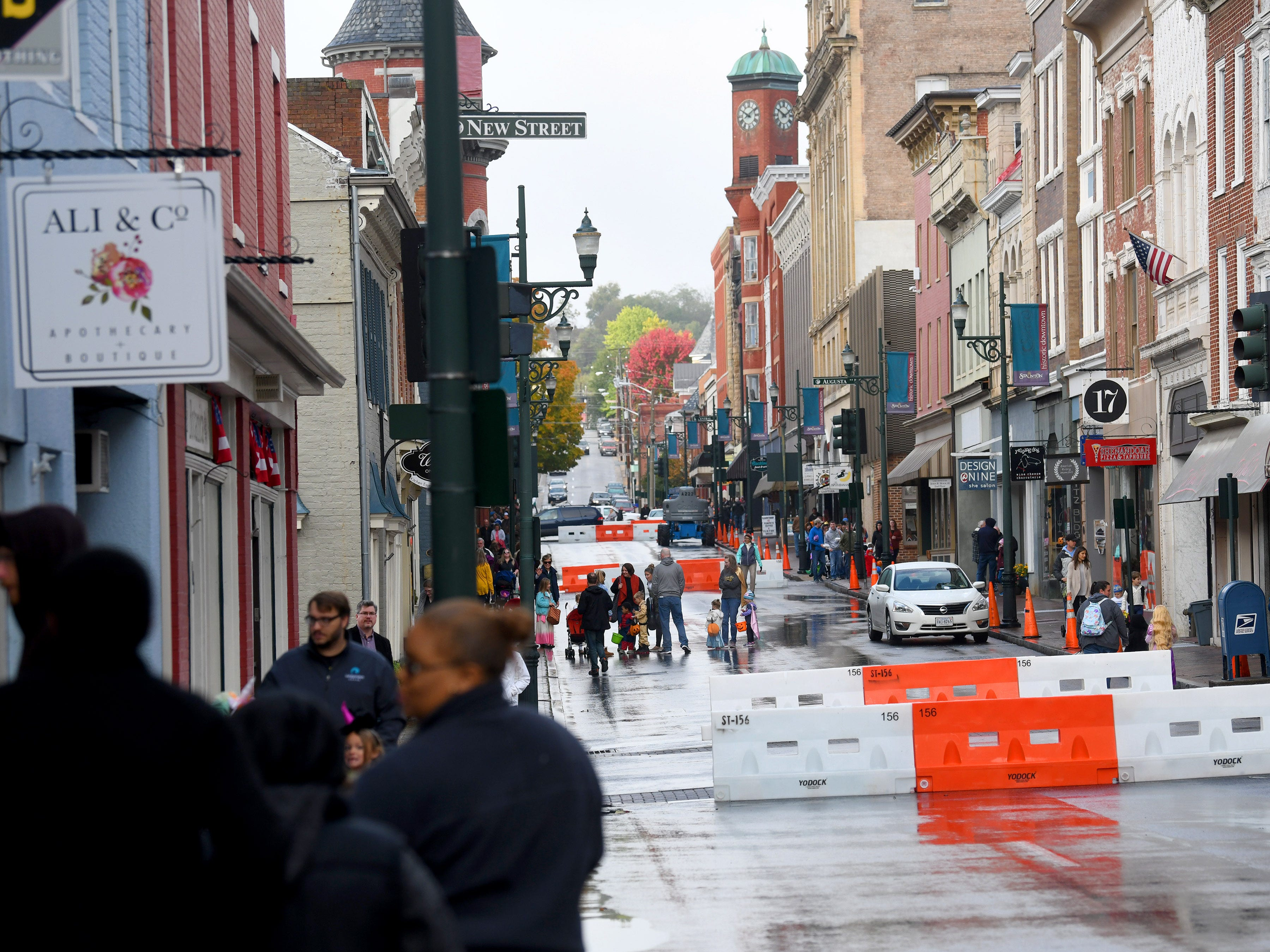 West Beverley and East Beverley streets are close to traffic in downtown for the safety of young trick-or-treaters during the annual downtown trick-or-treating event in Staunton on Saturday, Oct. 27, 2018.