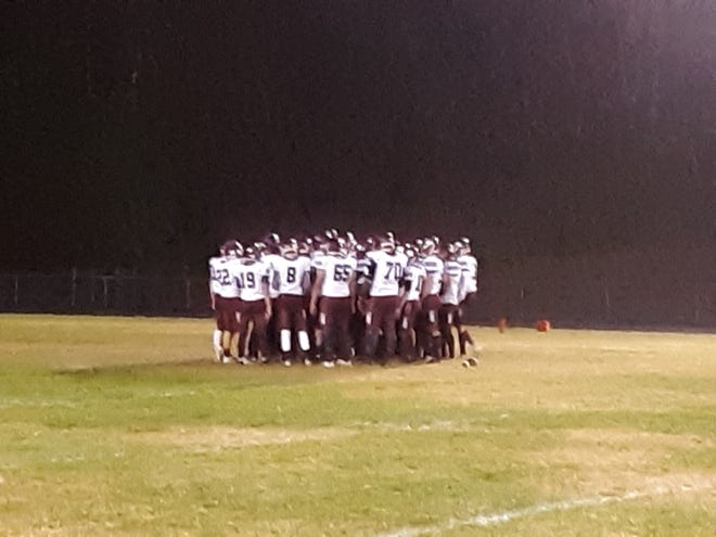 Stuarts Draft players get ready prior to Friday night's game at Luray.