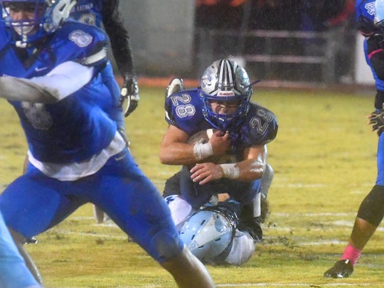 Robert E. Lee's Garrett Lawler rushed for 1,744 yards and 26 TDs in 2018.