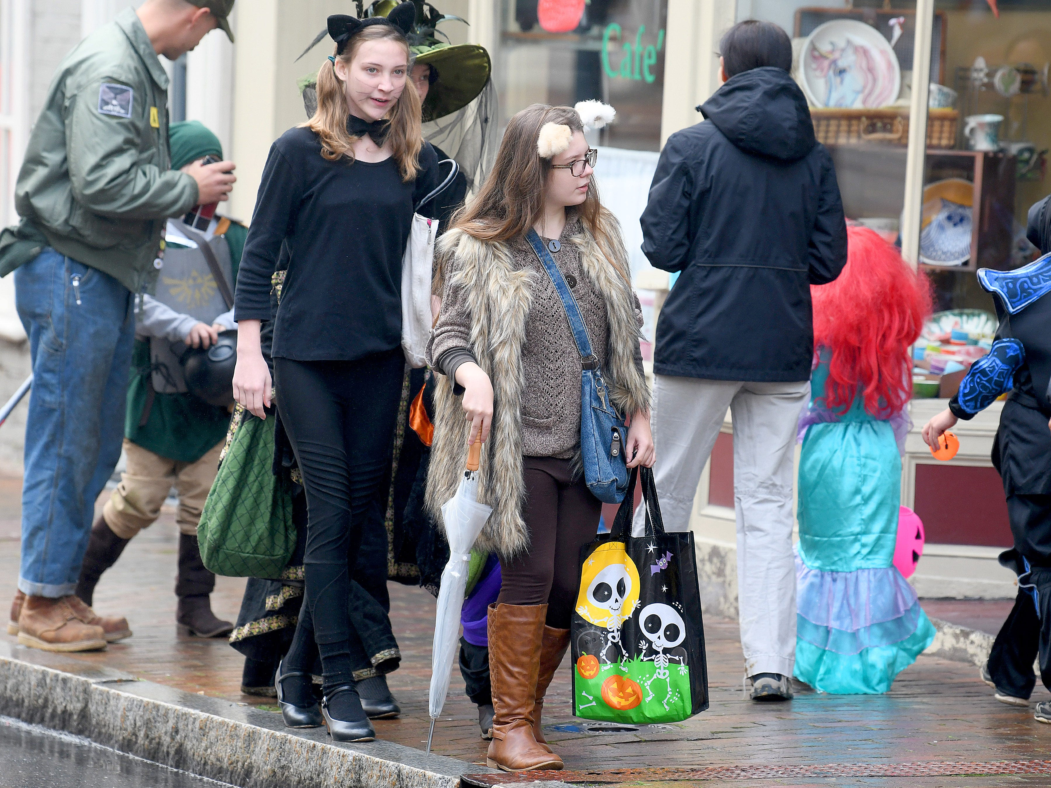 Trick-or-treaters filled the sidewalks and streets of downtown during the annual downtown trick-or-treating event in Staunton on Saturday, Oct. 27, 2018.