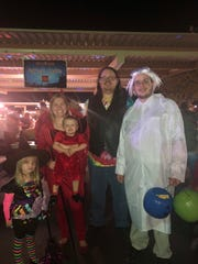 Braden Chamberlain and family enjoy the Shreek-reeka Halloween event at the Eureka Casino Resort in Mesquite.