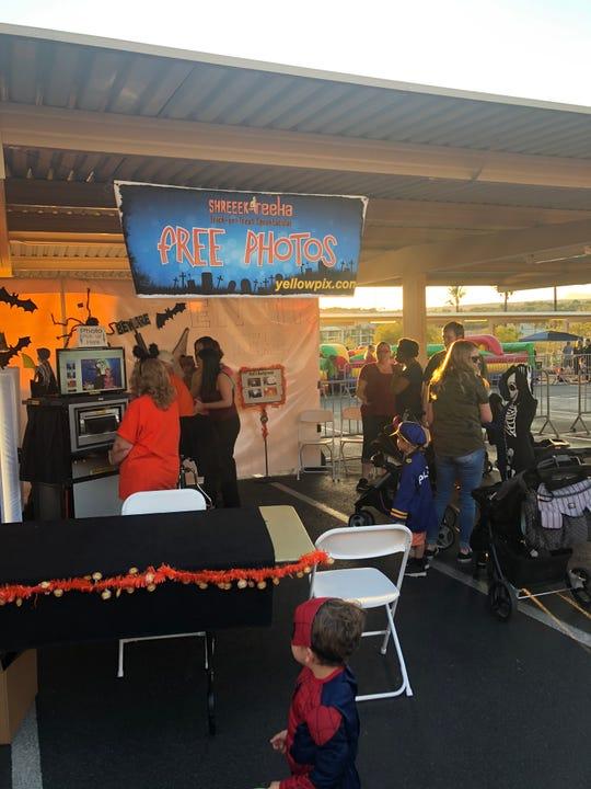 The free photo vendor at the Eureka Casino Resort's Halloween Shreek-reeka event.
