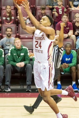 FSU forward Devin Vassell drives the basket in the Seminoles' 96-56 exhibition win over West Florida