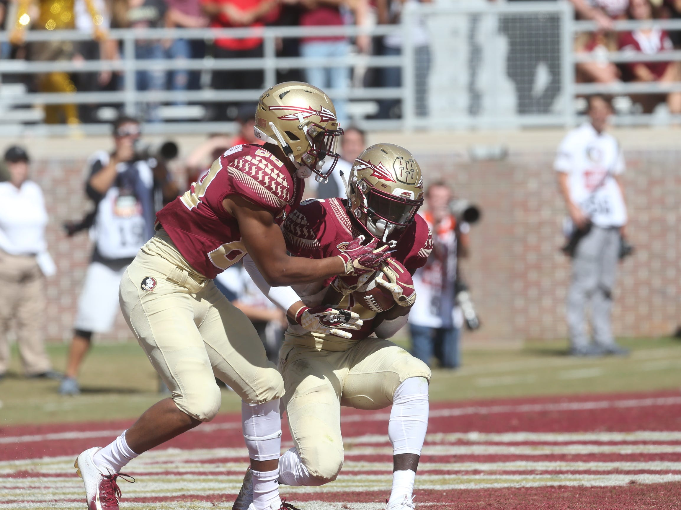 The Florida State Seminoles take on the Clemson Tigers in college football at Doak Stadium on Saturday, Oct. 27, 2018.