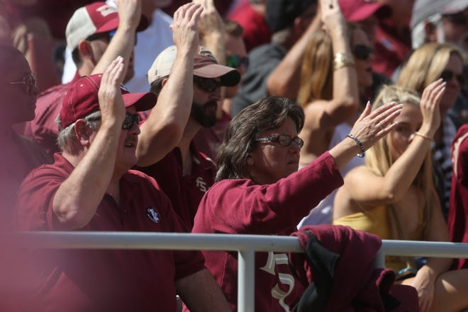 Fans cheer on the Seminoles as the Florida State Seminoles take on the Clemson Tigers in college football at Doak S. Campbell Stadium on Saturday, Oct. 27, 2018.