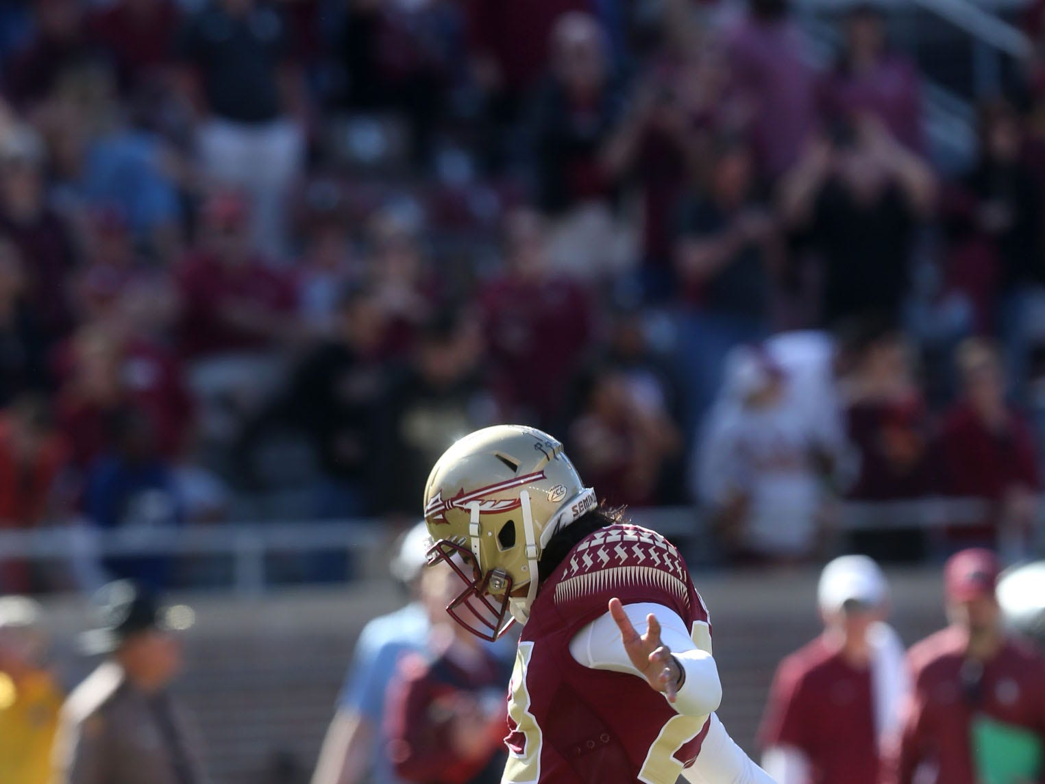Florida State Seminoles place kicker Ricky Aguayo (23) tries for a field goal as the Florida State Seminoles take on the Clemson Tigers in college football at Doak S. Campbell Stadium on Saturday, Oct. 27, 2018.