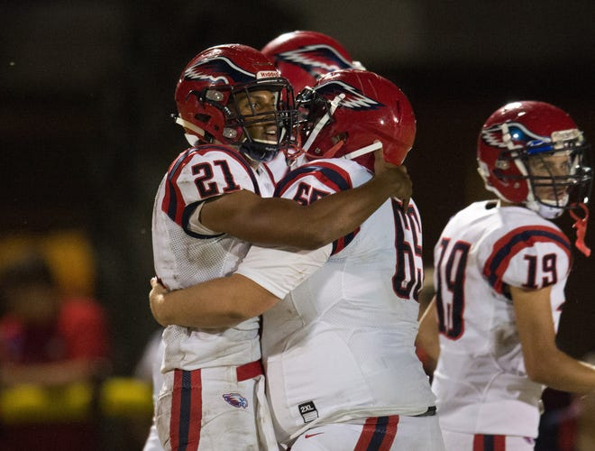 A 21-10 win against Treasure Coast on Friday, Oct. 26, 2018, left St. Lucie West Centennial High School's football team with a 7-2 record for its first seven-win season since the 2003 Eagles finished 10-2.