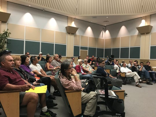 About 40 residents attended a community meeting about neighborhood odor on Saturday. Most were Port Hueneme residents and some were from south Oxnard.