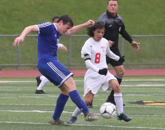 Somers beat Pearl River 4-2 in the Class A Section 1 boys soccer championship at Lakeland Oct. 27, 2018.