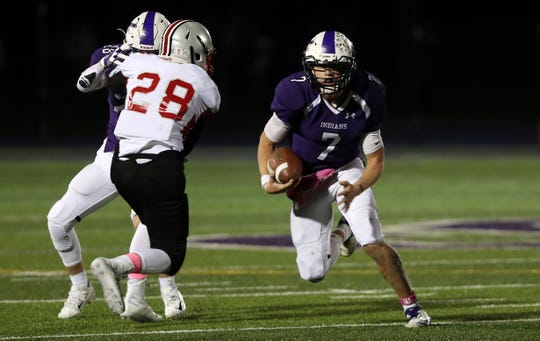 John Jay's Bryce Ford during Section semifinal against Somers at John Jay High School in Cross River Oct. 26, 2018.