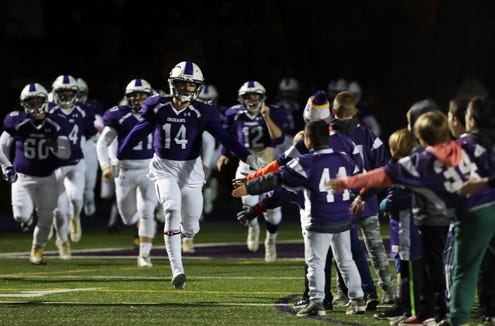 John Jay defeated Somers 29-7 in the Section 1 semifinal playoff football action at John Jay High School in Cross River Oct. 26, 2018.