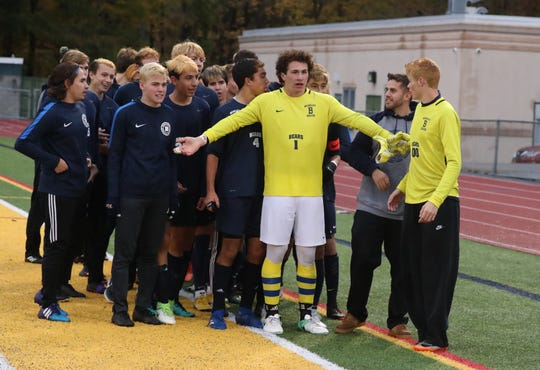 Blind Brook beat Briarcliff to win the Class B Section 1 boys soccer championship at Lakeland Oct. 27, 2018. Briarcliff won 3-2.