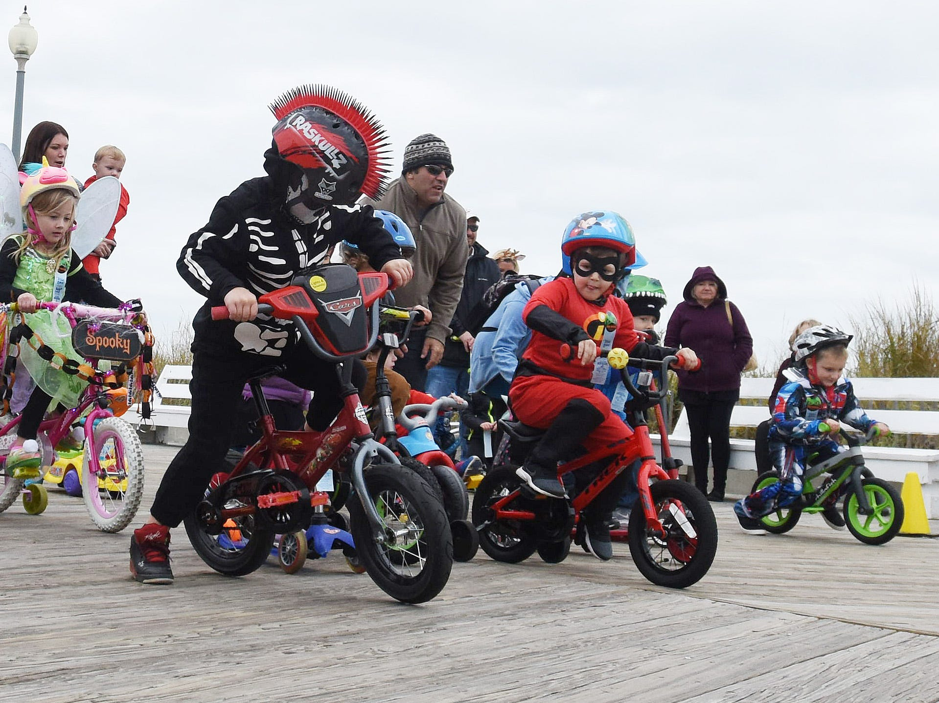 Rehoboth Beach's annual Sea Witch Festival took place despite a nor'easter. There was a kids' bike parade on the boardwalk Friday afternoon along with a kids' train ride in Grove Park.  Special to the News Journal / CHUCK SNYDER