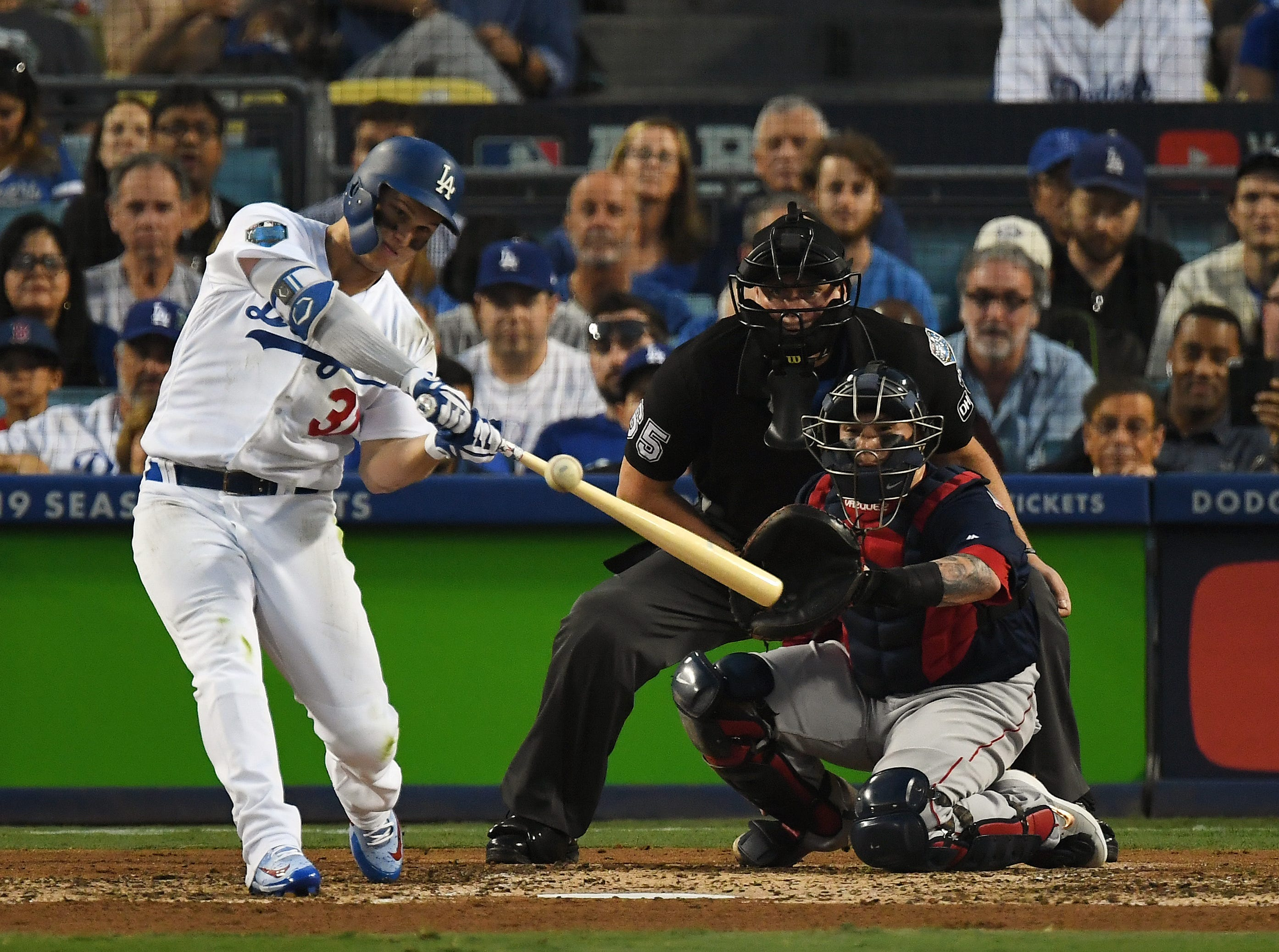 Game 3 at Dodger Stadium: Joc Pederson hits a solo homer in the third inning.