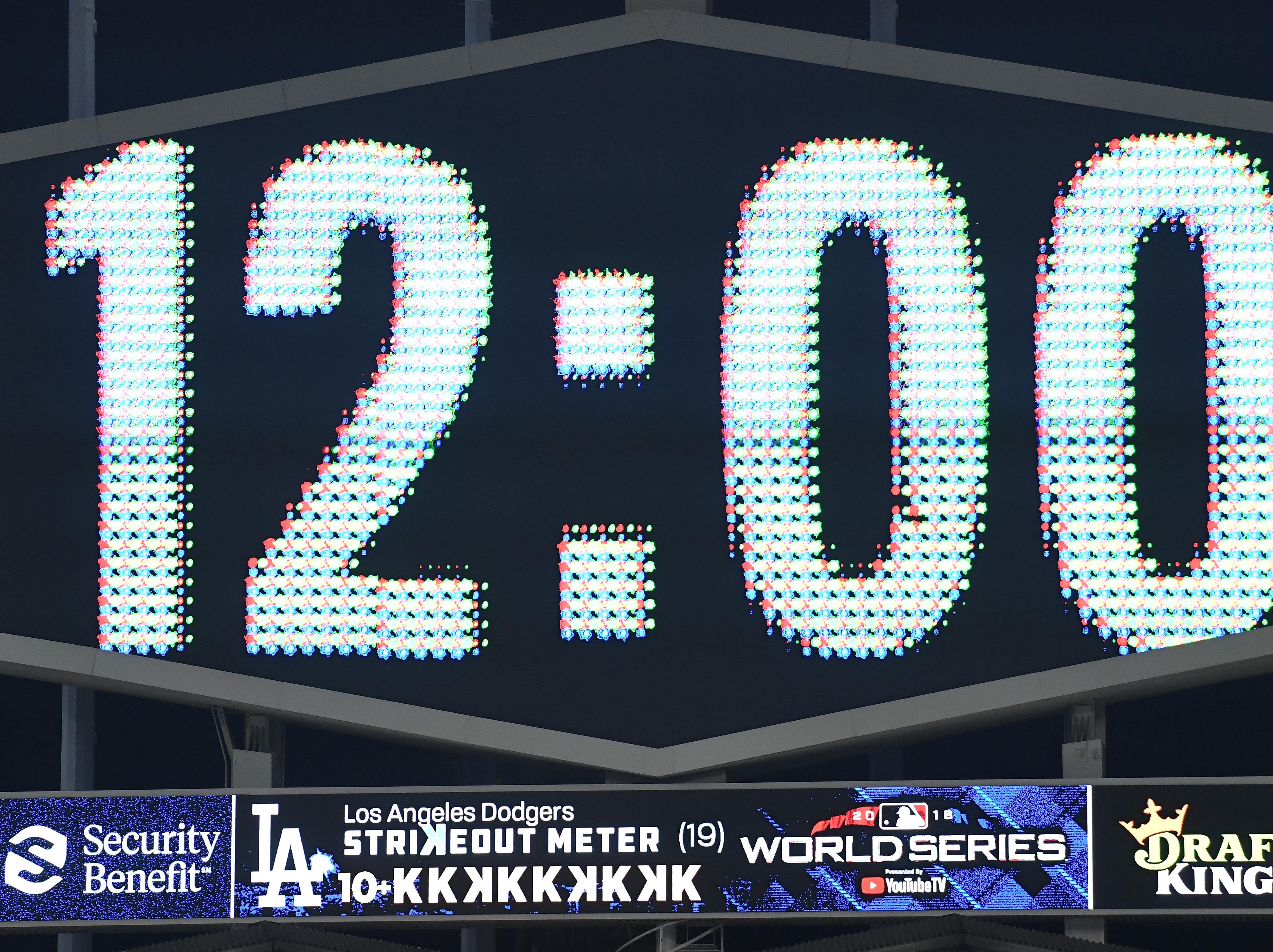 Game 3 at Dodger Stadium: The clock strikes midnight