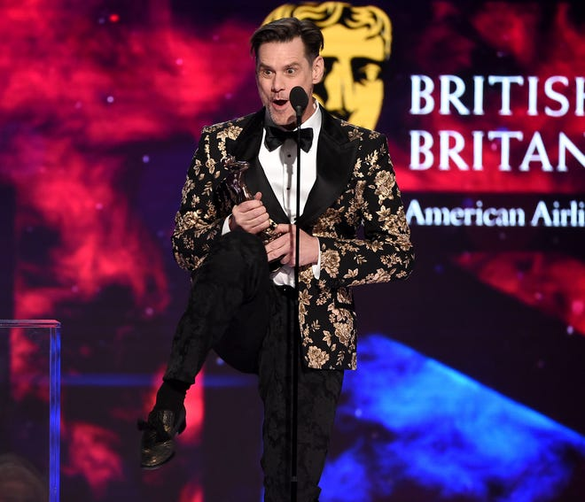 Jim Carrey didn't hold back on politics when he accepted the Charlie Chaplin Britannia Award for Excellence in Comedy at the 2018 British Academy Britannia Awards presented on Oct. 26, 2018, in Beverly Hills.