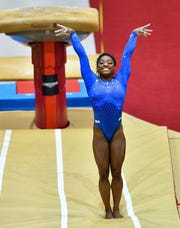 Simone Biles dominated -- yet again -- at qualifying at the gymnastics world championships.