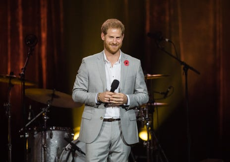 Prince Harry delivers a speech at the closing ceremony of the Invictus Games.